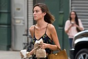 Alexa Chung Out For Lunch in NYC