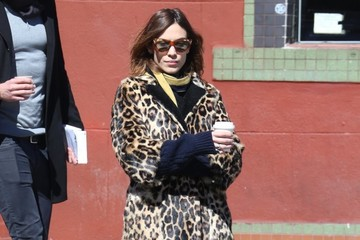 Alexa Chung Alexa Chung Stops For Coffee In NYC
