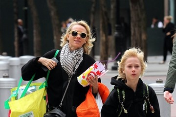 Alexander Schreiber Naomi Watts Shops with Her Sons in NYC