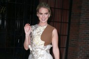 Alice Eve Leaves the Bowery Hotel