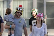 Alyssa Milano and hubby Dave Bugliari took their son Milo to watch Yo Gabba Gabba at the Nokia Theater in Los Angeles, CA on November 23rd, 2012.