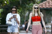 Transgender model Andreja Pejic and fellow model Alina Baikova are spotted out and about in Miami, Florida on November 30, 2016.