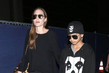 Angelina Jolie Angelina Jolie and Maddox Arrive On A Flight At LAX