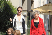 "Semi-Exclusive... ""The Tourist"" star Angelina Jolie takes her twins Knox and Vivienne shopping with their grandmother on February 27, 2012 in Beverly Hills, CA. Angelina turned heads last night at the Academy Awards in her Versace gown with a thigh-high slit..."