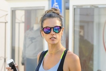 Anja Ambrosio Mazur Alessandra Ambrosio Shopping With Her Kids In Brentwood