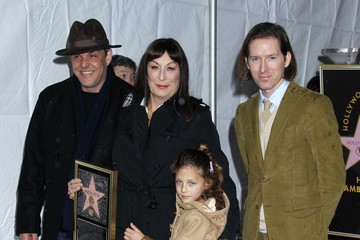 Anjelica Huston Danny Huston Anjelica Huston Honored With Star On The Hollywood Walk Of Fame