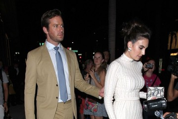 Armie Hammer Celebrities Dine Out at Craig's Restaurant