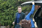 Arnold Schwarzenegger Heads to the Office