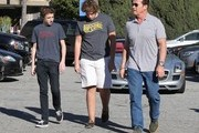 Arnold Schwarzenegger and Christopher Schwarzenegger Photos Photo