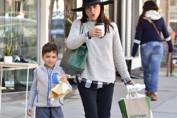 Arthur Bleick Selma Blair and Arthur Bleick Shop for Groceries in Studio City