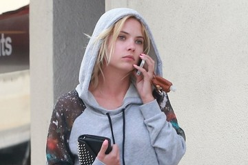 Ashley Benson Ashley Benson Chats on Her Phone