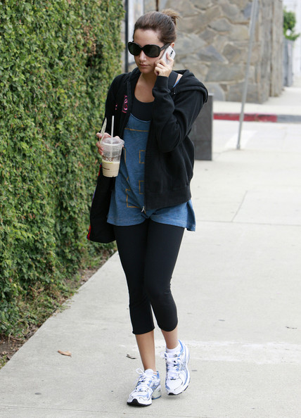 Actress Ashley Tisdale arrives at a recording studio in Studio City, CA to record the voice of Candace for
