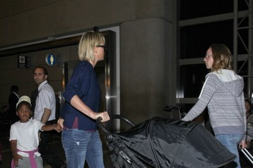 August Theron Charlize Theron and Her Kids Catch a Flight Out of LAX