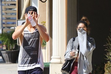 Austin Butler Vanessa Hudgens and Austin Butler Leave a Pilates Class