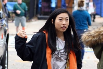 Awkwafina Stars Perform on the Set of 'Ocean's Eight' in NYC