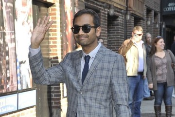 Aziz Ansari Celebs Head to the 'Late Show with David Letterman'