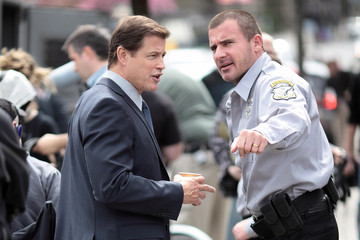 Michael Pare 'Bailout' Films In Vancouver