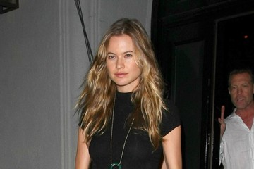 Behati Prinsloo Celebrities Dine Out at Craig's Restaurant