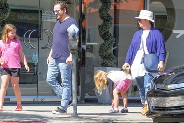 Ben Falcone Melissa McCarthy and Her Family Enjoy Some Time Out Together in Sherman Oaks