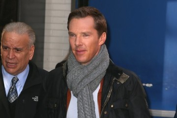 Benedict Cumberbatch Celebrites On 'Good Morning America' In NYC