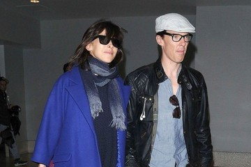 Benedict Cumberbatch Benedict Cumberbatch and Sophie Hunter at LAX — Part 2