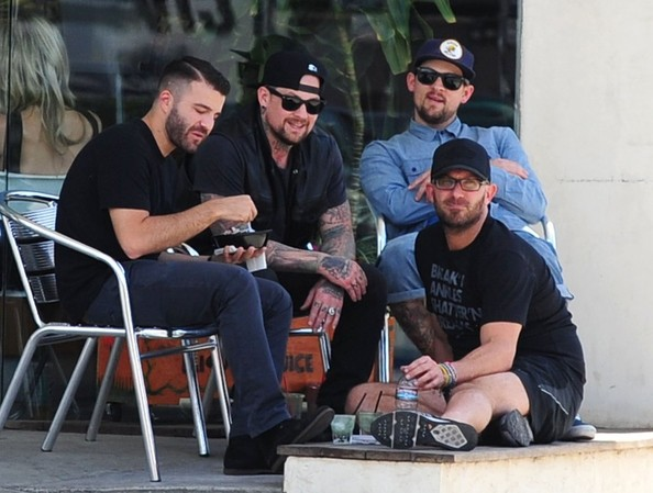 Photo of Joel Madden & his friend celebrity  Benji  - work