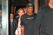 Couple Beyonce Knowles and Jay-Z are spotted out for dinner at Del Posto in New York City, New York on May 24, 2016.