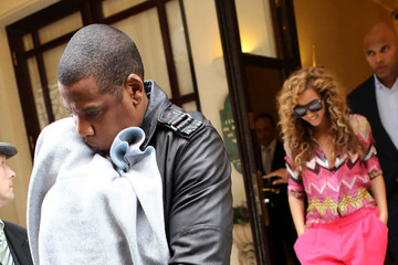 Jay-Z Beyonce Knowles Beyonce and Jay-Z Step Out With Blue Ivy