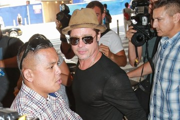 Brad Pitt Brad Pitt Arriving on a Flight at LAX