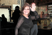 Bravo television reality stars seen leaving their hotel and heading to the Bravo Upfront Party in New York City, New York on April 4, 2012.<br /> <br /> Pictured: Caroline Manzo