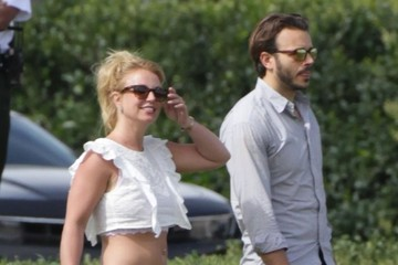 Britney Spears Charlie Ebersol  Britney Spears Watches Her Boys Play Soccer With Her Boyfriend