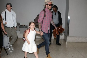 Brooklyn Beckham David Beckham Spotted At LAX