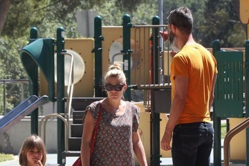 Busy Philipps Marc Silverstein Busy Philipps and Family Spend the Day at the Park