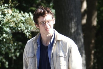 Callum Turner Celebrities Perform on the Film Set of 'The Only Living Boy'