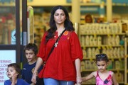 Camila Alves Stops by a Pharmacy with Her Kids