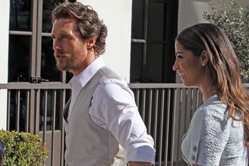 Camila Alves Celebrities Spotted After Matthew McConaughey's Walk Of Fame Ceremony