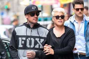 Carey Hart Pink & Carey Hart Out Shopping In New York