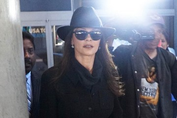Catherine Zeta Jones Catherine Zeta-Jones Touches Down At LAX
