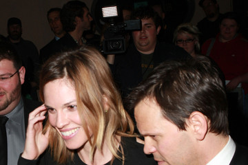 Hilary Swank John Campisi Celebrities Arriving At Critic's Choice Awards Afterparty At Buffalo Club
