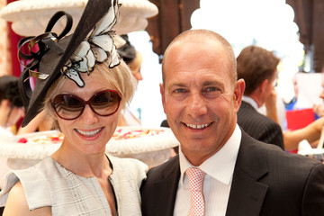 Martin Sacks Celebrities Attending AAMI Victoria Derby Day In Flemington Australia