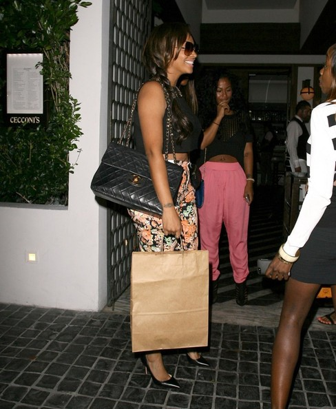 Celebrities dine out at Cicconi's restaurant on August 21, 2013 in West Hollywood, California.