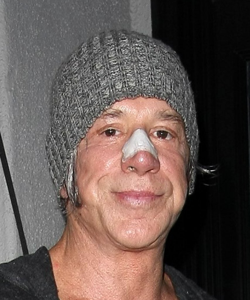 mickey rourke photos photos celebrities dine out at