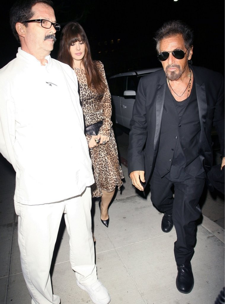 Al pacino and lucila sola photos photos celebs get dinner in beverly