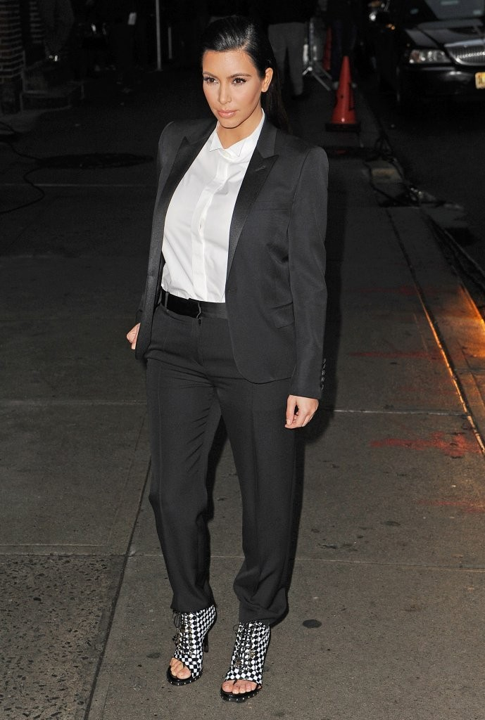 Kim+Kardashian in Celebrities At The 'Late Show With David Letterman'