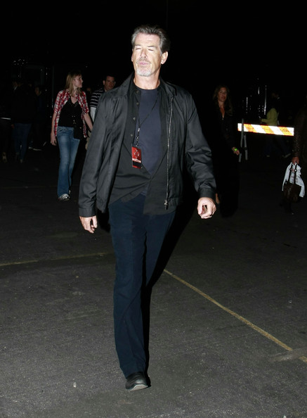 Celebrities are seen leaving the U2 concert at the Rose Bowl in Pasadena.