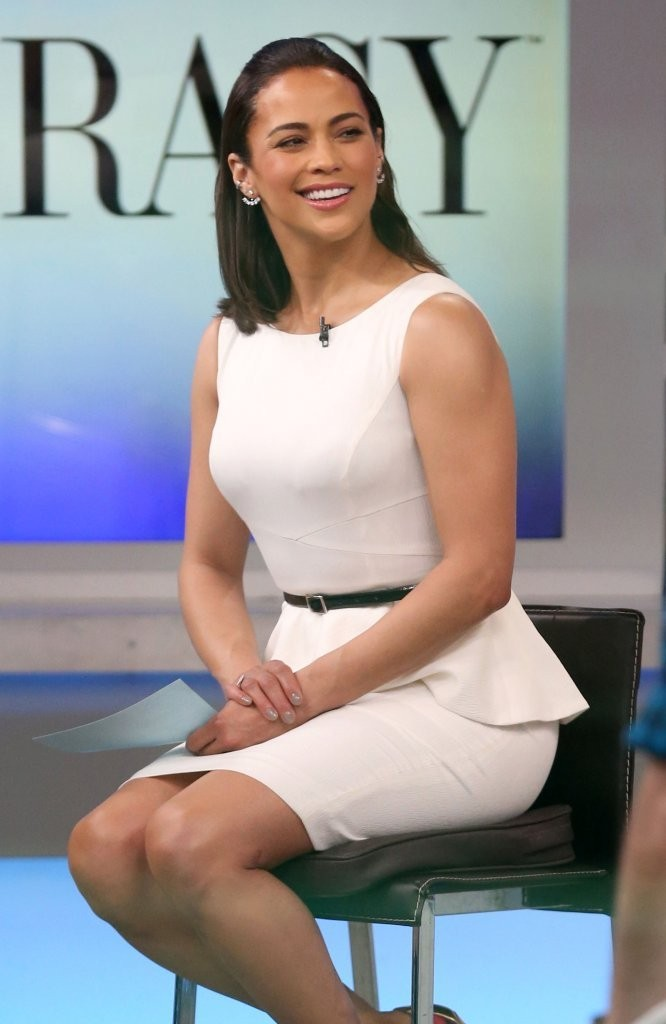 Good Morning America How Are You Chords : Paula patton in celebs visit good morning america zimbio