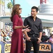 She talks about the important stuff with Mario Lopez.