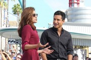 She talks about the important stuff with Mario Lopez. - Eva Mendes' Celebrity Friends