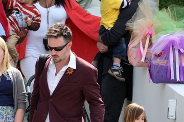 David Arquette Coco Arquette Celebs At A Easter Sunday Party At Ron Meyer's House