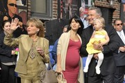 Celebrities making their last appearance on the 'Late Show With David Letterman' in New York City, New York on May 20, 2015. Today is the last show for Letterman after 33 years on the air.<br /> <br /> Pictured: Alec Baldwin, Carmen Baldwin, Hilaria Thomas, Barbara Walters